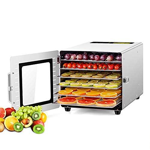 500w 6層食品乾燥機 20~90℃ 0~24時間自由調節 果物乾燥機 家庭用 果物 花茶 肉類 ペットフード フードド...
