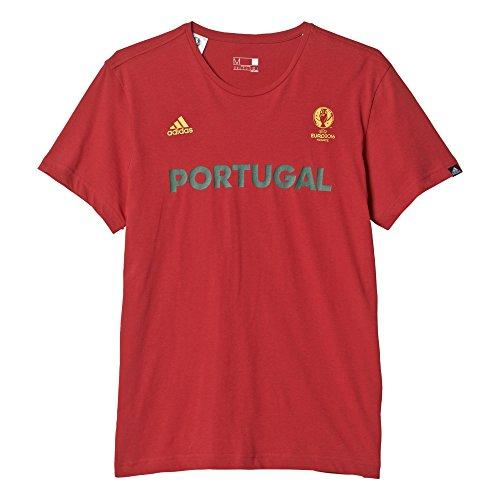 adidas Portugal Nazionale di Calcio del Portogallo Maglia da Uomo, Rosso (Rojpot), XL