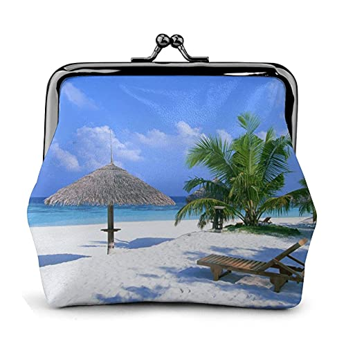 Coin Purse Palm Chair Wallet Buckle Leather Travel Makeup Change Purse Women Gift