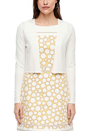 s.Oliver BLACK LABEL Damen Strickjacke aus feiner Qualität Soft White 44