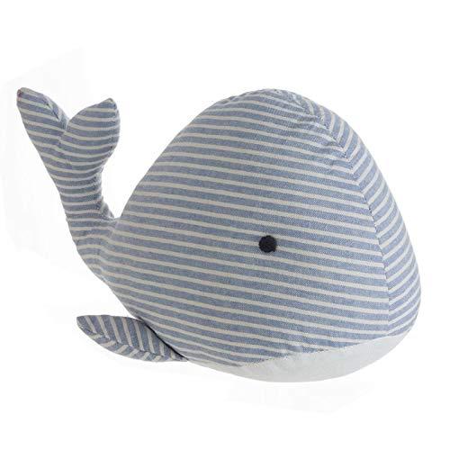 Deco Line - Fermaporta per pavimento a forma di balena, 35 cm