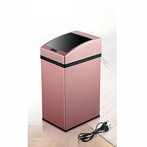 Poubelle Rechargeable Smart Induction ZHJING (Couleur : Pink)