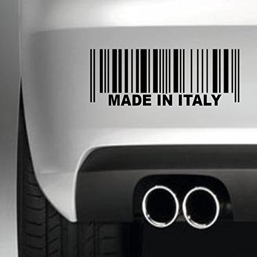 South Coast Stickers Made In Italy Barcode STICKER FUNNY BUMPER STICKER CAR VAN 4X4 WINDOW PAINTWORK DECAL EURO LAPTOP DRIVE
