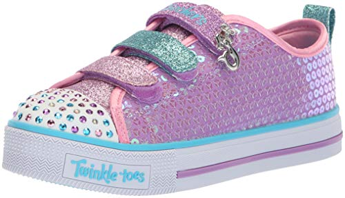 Kids Girls Skechers Twinkle Toes Twinkle Lite Mermaid Magic Trainers - Multi - 10.5