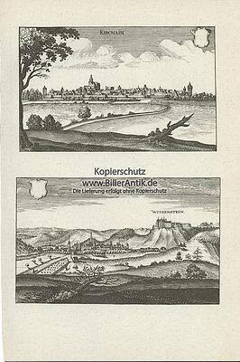 Kunstdruck Kirchain Lasphe Witgenstein Kirchhain Amöneburger Becken Laasphe Merian O 0017