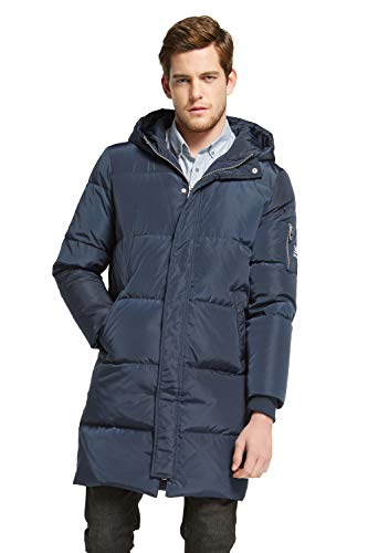 Orolay Men's Thickened Down Jacket Winter Warm Down Coat Navy