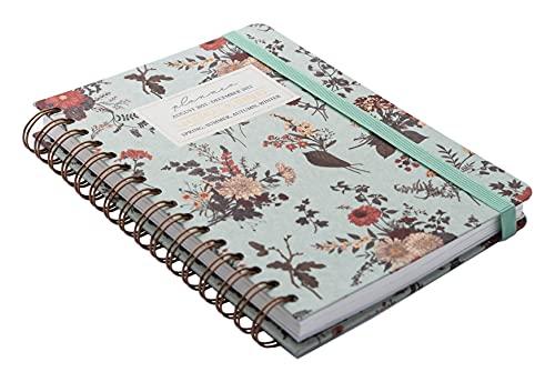 Kokonote - Agenda Scolaire 2021 2022 Seasonal Flowers | Agenda Semainier A5 dAoût à Juillet | Agenda Spirale 14,8 x 21 cm | Agenda Etudiant 2021 2022