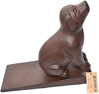 Lulu Decor, Cast Iron Dog Door Stopper, Doorstops Weight 4.75 Lbs (Brown)