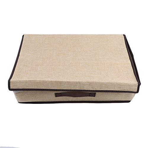 unknow Growrak - Caja de almacenamiento de ropa interior de algodón y lino plegable para calcetines, corbatas, bufandas, contenedor organizador de suministros para