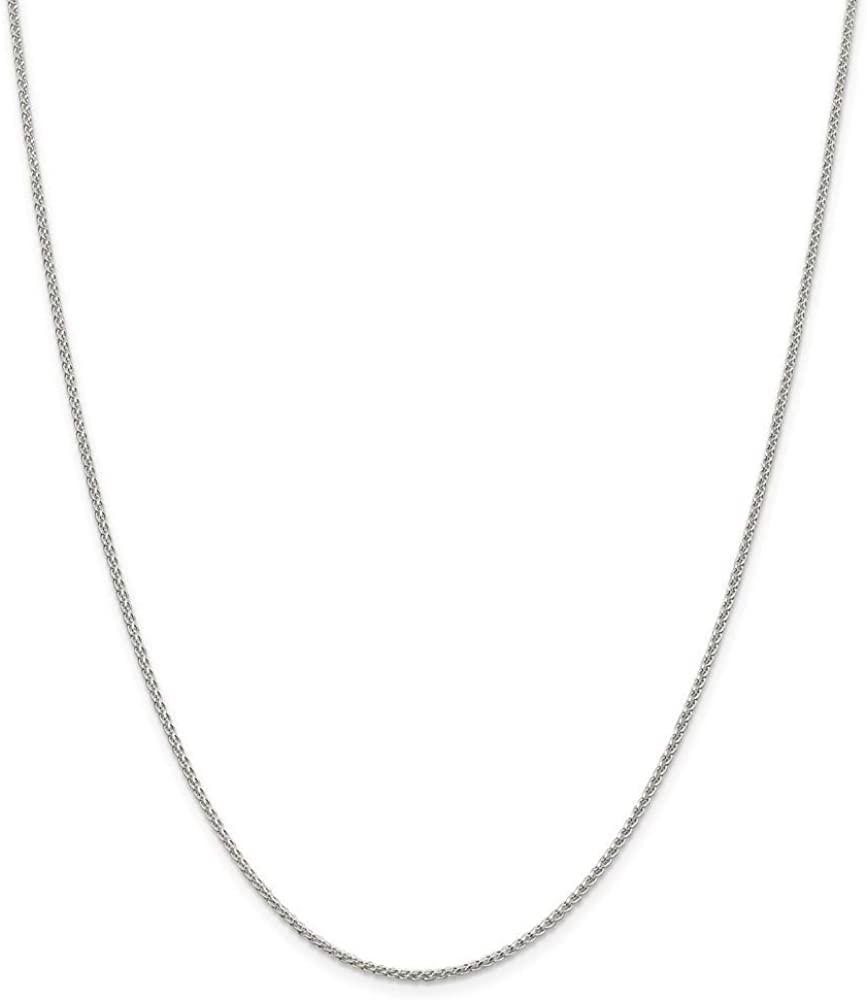 925 Sterling Charlotte Mall Silver Round Spiga Chain Necklace Gifts Jewelry Free shipping on posting reviews for
