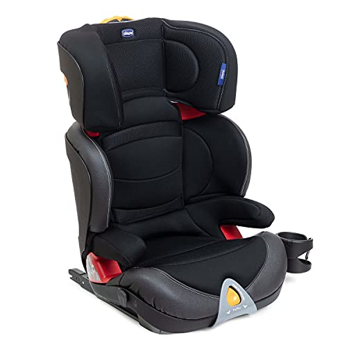 Cadeira Auto Oasys 2-3 Fixplus Evo, Chicco, Jet Black