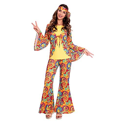 amscan 9907005 - Disfraz de mujer hippy para mujer, talla 10-12, multicolor