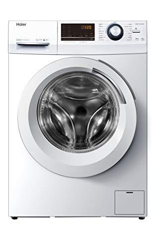 Haier HW80-B14636N-IB - Lavadora 8kg, Motor Inverter Direct Motion, ABT Antibacterias, Función Vapor, Libre Instalación, 67dba, 1200rpm, Clase A
