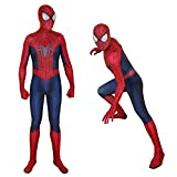 Unisex Spandex Zentai Halloween Cosplay Costumes Adult/Kids 3D Style (Adult-M, red and Blue)