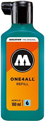 Molotow mo692206Refill one4all, recarga para marcador permanente 180ml, 1pieza, Lagunenblau