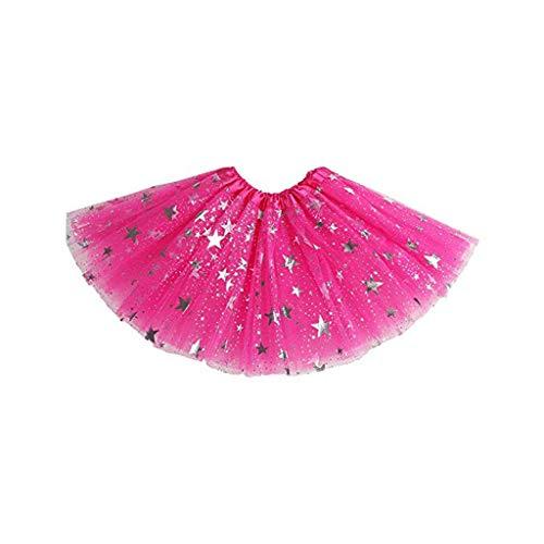Briskorry Falda de tul para niña, minivestida de princesa, con lentejuelas, para danza, disfraz de fiesta, cosplay
