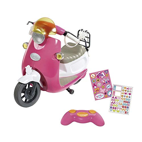 Baby Born- City RC Scooter, Multicolor, (Bandai ZC824771