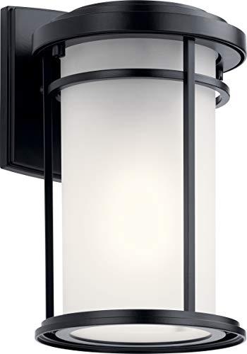 Kichler 49686BK Toman Outdoor Wall Sconce, 1-Light 75 Watts, Black