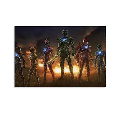 DRAGON VINES Póster de superhéroes de Power Rangers, 30 x 45 cm