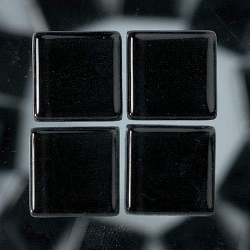 MosaixSoft 10x 10x 4mm 200g 215-piece Glas Fliesen, schwarz