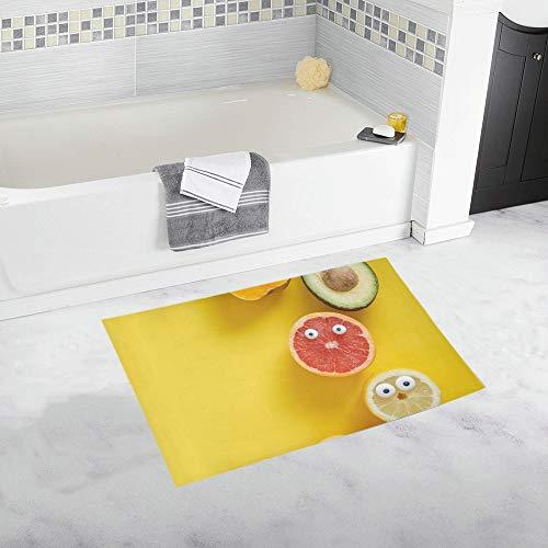 JOCHUAN Lustige Obst gemüse benutzerdefinierte rutschfeste badematte Teppich Bad fußmatte Boden Teppich für Bad 20x32 Zoll