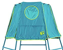 Replacement den for the Explorer Climbing Frame in new blue colourway. Easy to put on/take off play de Two entry/exit points. Viewing window and roll up doors Compatible with all models of Explorer climbing frame. Platform & frame not included. Den O...