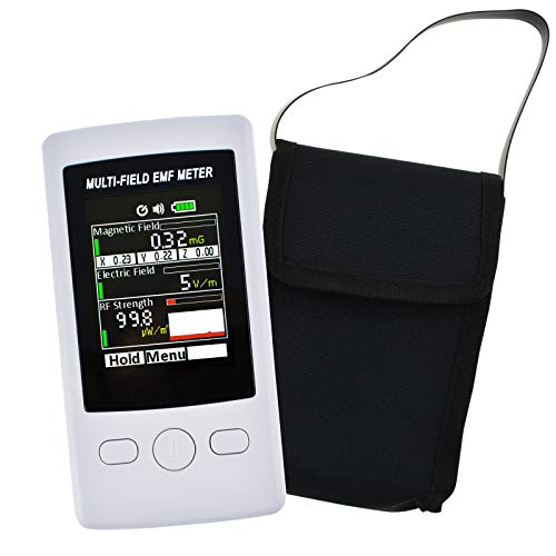 Multi-Feld EMF Meter Tasche ELF RF Gauß Meter 2000mG Elektromagnetisch Elektrisch RF Feld Stärke Prüfer mit Warnung Indikator