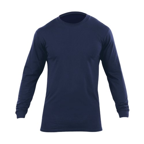 5.11 Tactical Pack of 2 Long Sleeve Utili-T Shirt, Dark Navy, Large