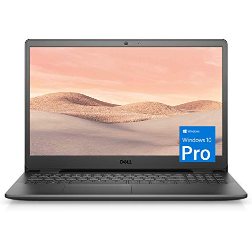 Dell Inspiron 15 3000 Laptop (2021 Latest Model), 15.6' HD Display, Intel N4020 Dual-Core Processor, 8GB RAM, 256GB SSD, Webcam, HDMI, Bluetooth, Wi-Fi, Black, Windows 10 Pro