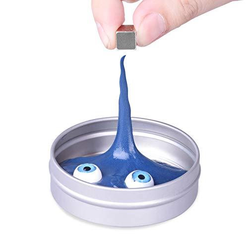 Arcilla y Plastilina Inteligente, Pasta Inteligente, DIY Creativa Arcilla Plastilina Inteligente, DIY Juguete Divertido Hechos a Mano para Niños y Adulto, Azul