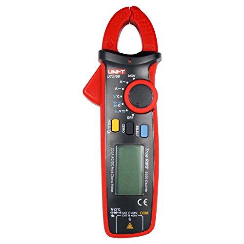 UNI-T UT210D Digital-Multimeter Messgerät Strommesszange AC/DC Strom Zange Spannung Amperemeter Widerstand Capacitance Temperature Messung Automatische Reichweite