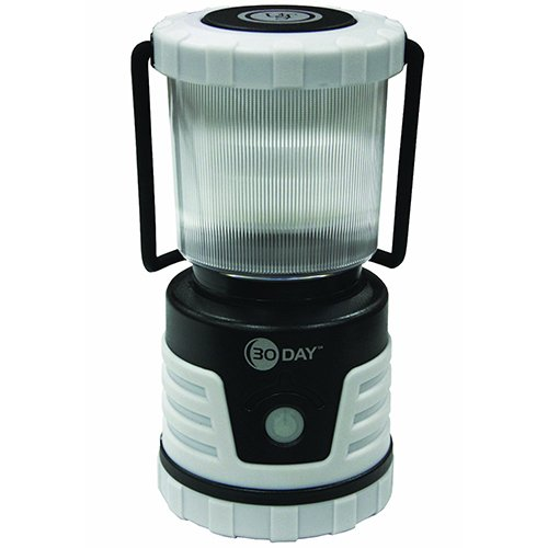 UST 30-DAY Duro LED Portable 700 Lumen Lantern with Lifetime LED Bulbs and Hook for Camping, Hiking, Emergency and Outdoor Survival, Glo White