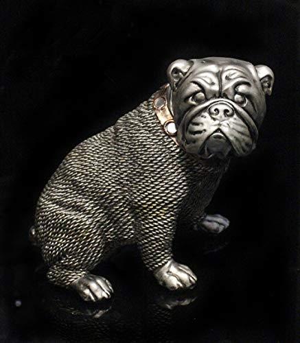 DAJIADS Figur,Statue,Statuen,Statuette,Skulpturen,Tier 2 Stück/Set Englische Bulldogge Schmuck Mode Kunst Harz Skulptur Für Wohnzimmer Schlafzimmer...