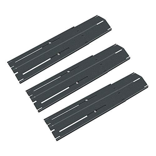 Denmay Grill Flammenverteiler, Heizplatte Ersatzteile, Strapazierfähiger Hitze Teller, Verstellbarer Porzellan Stahl Hitzeschild, Ersatz-Gasgrill, Länge von 29,85 cm bis zu 53,35 cm, 3 Pack