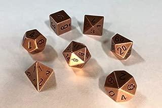 Chessex: 7-Die Set Metal: Copper Color - 27204