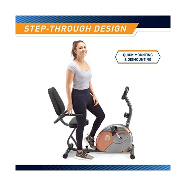 Exercise Bikes Marcy Recumbent Exercise Bike with Resistance ME-709