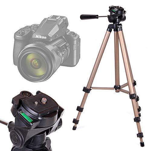 DURAGADGET Trípode Profesional Compatible con Cámara Nikon Coolpix P950 - con Nivel De Burbuja