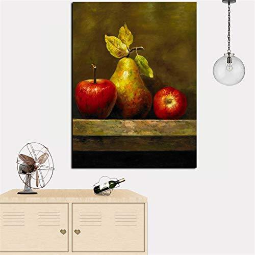 wZUN HD-Druck abstrakte Stillleben Ölgemälde Kunst Obst Wandkunst Bild Poster auf Leinwand auf dem Tisch Moderne Küche Dekoration 50x70cm
