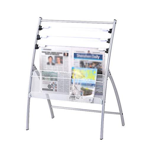 LLRDIAN Estante para periódicos - Estante para revistas Estante para revistas - Estante para periódicos de Oficina Estantería de Mesa fácil