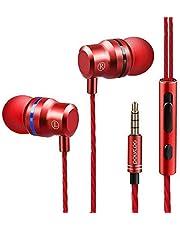POLVCOG DT-A6 イヤホン インナーイヤー型イヤホン 高音質 マイク・リモコン付き タッチノイズ低減 ステレオイヤホン Android/iPhone/PC多機種対応3.5MM金属端子で DT-A6