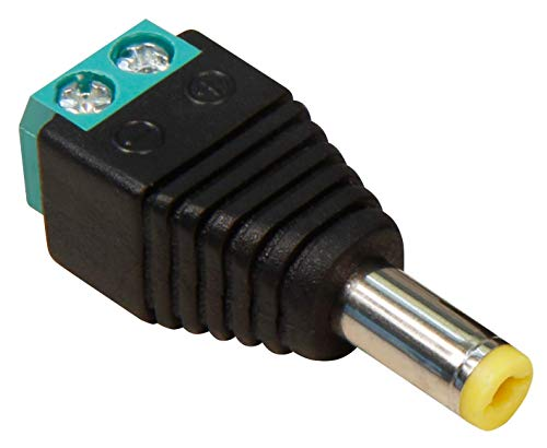 MC POWER - Adapter mit Lüsterklemme | DC 5,5x2,1mm, Gleichstrom Charger Netzstrom DC-Hohlstecker, DC-Stecker