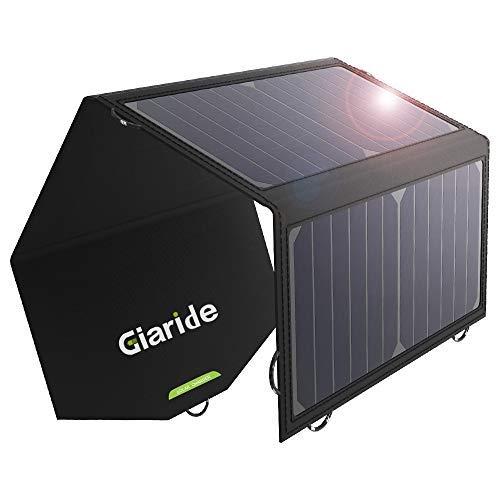 GIARIDE 12V 18V 21W Cargador Panel Solar Sunpower Baterías de Coche Plegable...