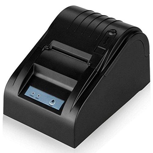 BOYISEN ZJ-5890T Impresora térmica de Recibos Rollos de Papel térmico de 58mm 90mm/Sec, ESC/POS, Mini USB Portátil, Conpartible con WinXP/Vista/Win 7/Win 8,Linux