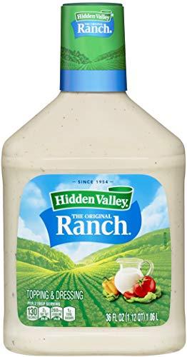 Hidden Valley Original Ranch Salatdressing & Topping, glutenfrei, Keto-freundlich, 1,0 l Flasche (Paket kann variieren)