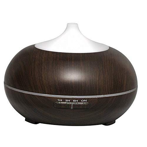 JSQWP 300ml aroma-olie diffuser houtnerf ultrasone koude nevel luchtbevochtiger