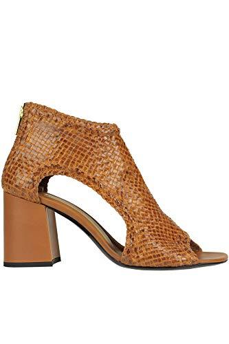 Luxury Fashion | Yosh Collection Dames MCGLCAT0000B7072E Bruin Leer Enkellaarzen | Seizoen Outlet