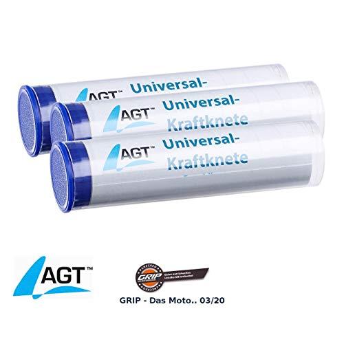 AGT Knetkleber: 3er-Pack Universal-Kraftknete: 2-Komponenten-Kleber aus Epoxidharz (Knetmetall)