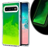 VenSen Liquid Fluorescent Case for Samsung Galaxy S10 (6.1 inch) Soft TPU Luxury Glow in The Darkness Noctiluncen Luminous Neon Sand case Fit GalaxyS10 (Green)