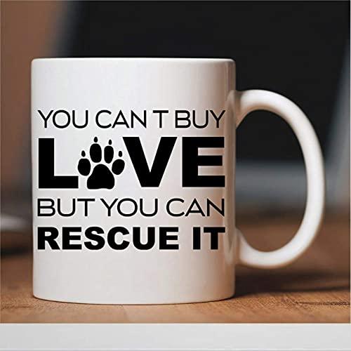 Taza de café con animales Loversee, taza de café de rescate de animales, taza de cerámica para oficina y hogar, leche de té, cumpleaños para ella o él, 11 oz