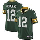 OMG020 NFL Packers Green Bay Packers Rodgers Ropa de fútbol Legendario Jersey Bordado de Segunda generación,green-12,XXL